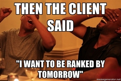 i want to be ranked by tomorrow seo meme